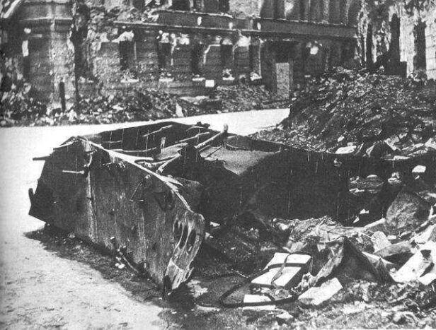 Wrak pojazdu miny na ulicy Kilińskiego wikipedia