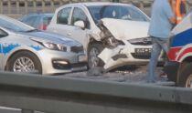 Trasa Łazienkowska stała w korku po zderzeniu czterech aut