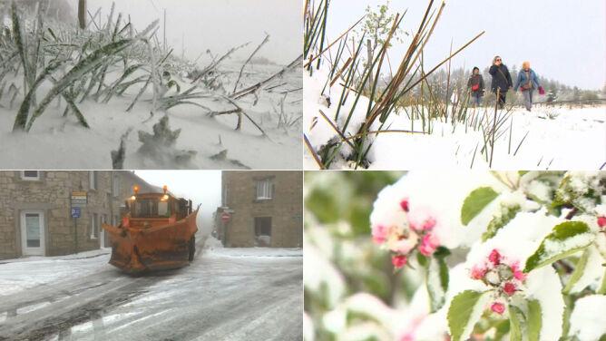 """""""Zimowy"""" początek maja w Europie. <br />Sypnęło śniegiem od Francji po Słowenię"""