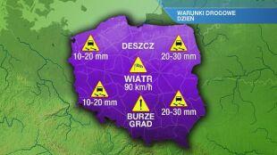Warunki drogowe w czwartek 16.07